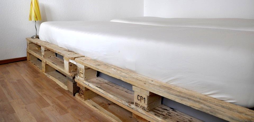 Wir Bauen Ein Bett Aus Einwegpaletten Mobel Blog