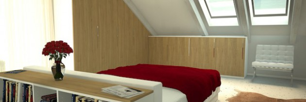 Dachschrägenschrank: Zimmer mit Schrägen gestalten