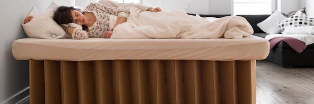 Ein Bett aus Wellpappe: Das ist das ROOM-IN-A-BOX-Bett
