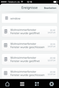 App Gigaset Elements Fenster